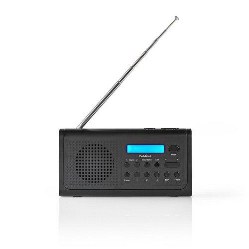 nedis Nedis DAB+-radio | 3 W | FM | Klok- en alarmfunctie | Zwart