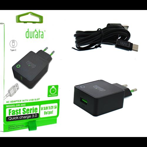 durata Durata USB-C laadset - 3Amp