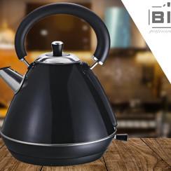 Biko waterkoker (Fluitketel model) - zwart