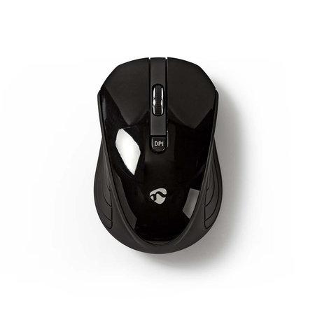 nedis Nedis Draadloze muis | 1000 dpi | 3-knops | Zwart