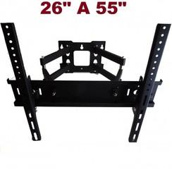 Kantelbare TV  muurbeugel voor 26-55 inch (max 56 kg)