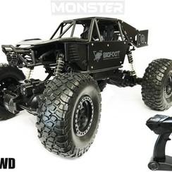 RC MONSTER CAR ROCK CRAWLER 4WD zwart