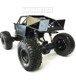 RC MONSTER CAR METAL ROCK CRAWLER 4WD - zwart