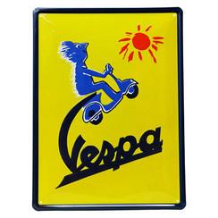 Vespa Sun metalplate 30x40cm