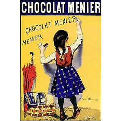 chocolat menier Metalen poster 30x40cm