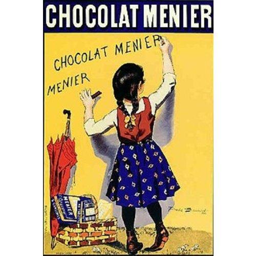 cz chocolat menier Metalen poster 30x40cm