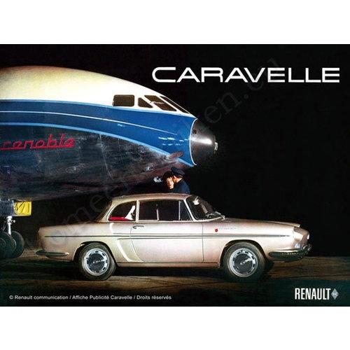nostalgic art Renault Caravelle metalen poster 30x40cm