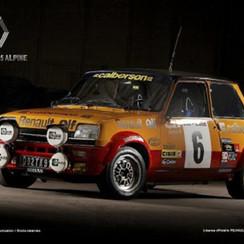 Renault 5 Alpine Metalen Wandbord 30 x 40 cm