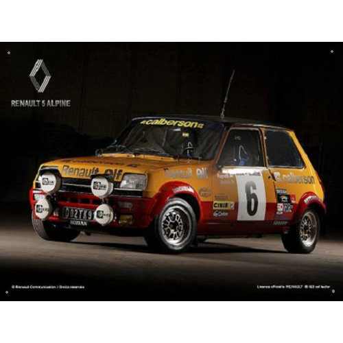 cz Renault 5 Alpine Metalen Wandbord 30 x 40 cm