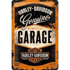 Wandbord - Harley Davidson Garage - 20x30cm