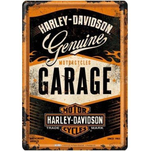 Nostalgic Art Merchandising Wandbord - Harley Davidson Garage - 20x30cm
