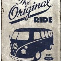 The Original Ride - Bulli Metalen wandbord in reliëf 20x30 cm