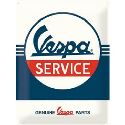 Vespa Service metal plate 30x40cm