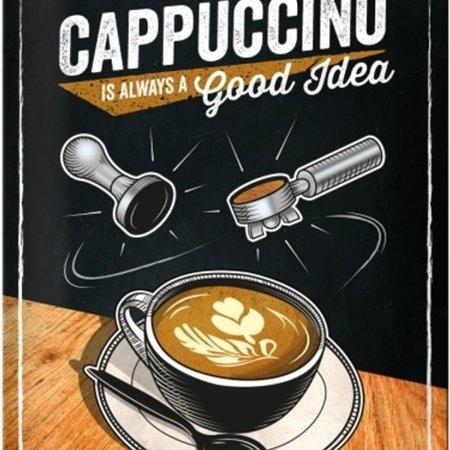 nostalgic art Wandbord - Cappuccino good idea
