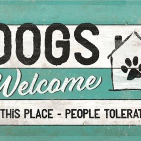 nostalgic art Wandbord - Dogs Welcome