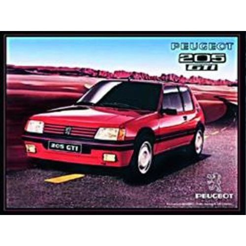 "nostalgic art metálica ""Peugeot 205 GTi"