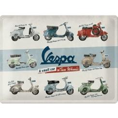 Wandbord Vespa models 30x40cm