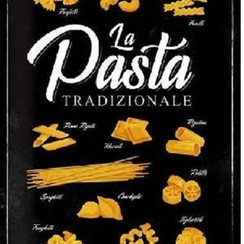 Wandbord - La Pasta Tradizionale -30x40cm-