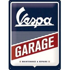 Vespa Garage metal plate 30x40cm