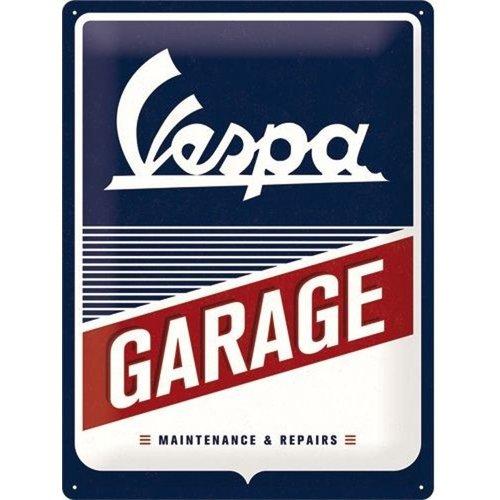 nostalgic art Metalen bord Vespa Garage