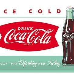 Coca Cola- Ice cold, Retro reclame wandbord, 30x40cm