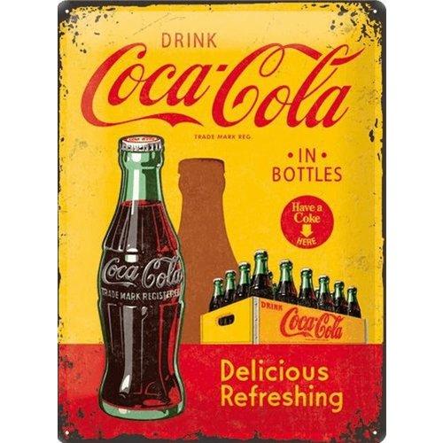 nostalgic art Coca Cola Yellow in Bottles