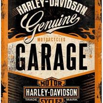 Wandbord - Harley-Davidson 30x40cm