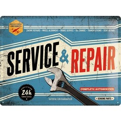 Wandbord - Service & Repair 30x40cm
