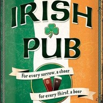 Wandbord - Irish Pub - 30x40 cm