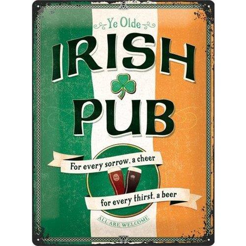 Nostalgic Art Merchandising Wandbord - Irish Pub - 30x40 cm