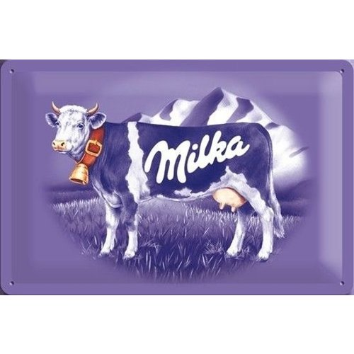 Nostalgic Art Merchandising Milka Koe Metalen wandbord in reliëf 30 x 40 cm.