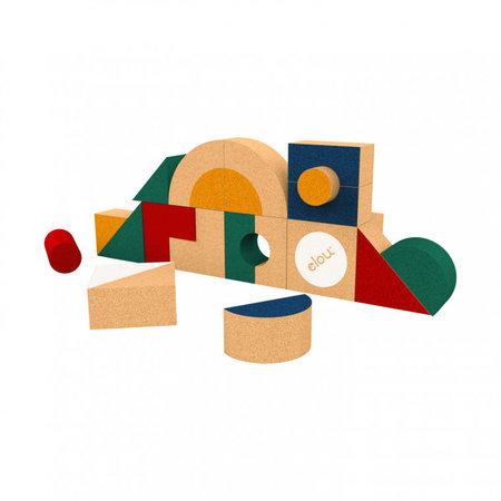 Elou Elou Kurken Blokkenset met vormen - 18stuks