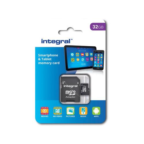 integral Integral Micro SDHC geheugenkaart klasse 10 32gb