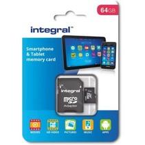 Integral 64GB SDHC/XC class 10 kaart+adapter
