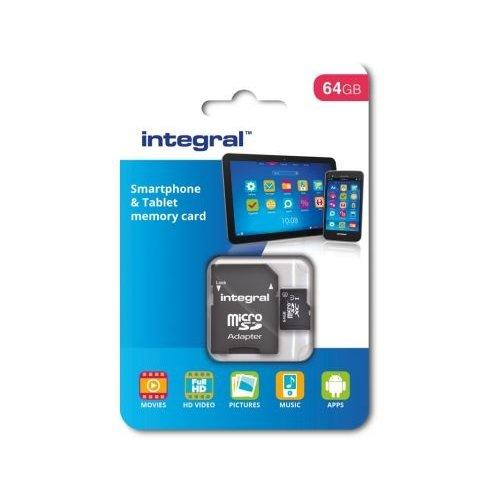 integral Integral 64GB SDHC/XC class 10 kaart+adapter