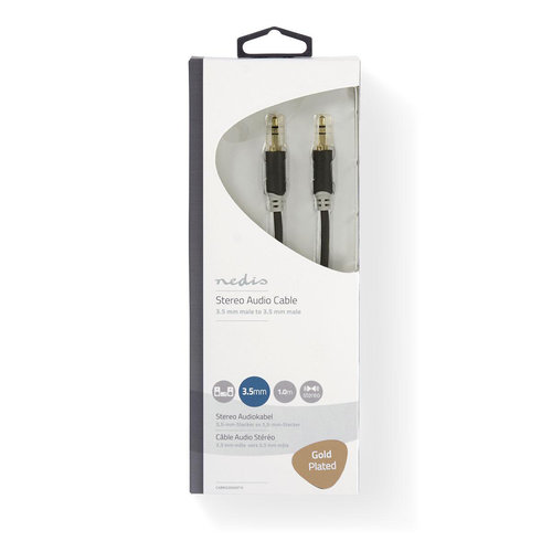 nedis Stereo Audiokabel Male/Male