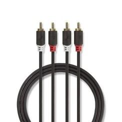 Stereo Adiokabel 2x RCA male - 2x RCA male