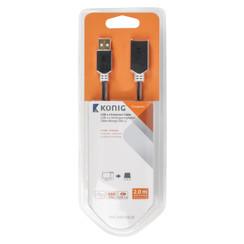 USB 2.0 Verlengkabel USB