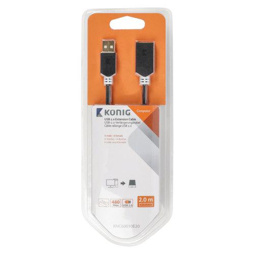 Konig USB 2.0 Verlengkabel USB