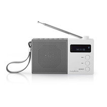 Digitale DAB+ radio | 4,5 W | FM | Klok & alarm | Grijs / wit