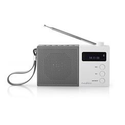 Digitale DAB+ radio   4,5 W   FM   Klok & alarm   Grijs / wit