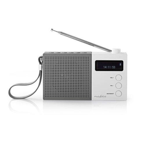nedis Digitale DAB+ radio | 4,5 W | FM | Klok & alarm | Grijs / wit