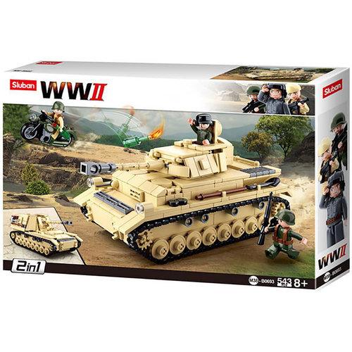 Sluban Sluban Bouwstenen WWII Serie Pantser IV German Tank
