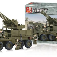 Sluban Bouwstenen Army Serie Voertuig voor Zwaar Transport