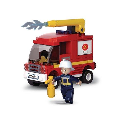 Sluban Bouwstenen Fire Serie Kleine Tankautospuit