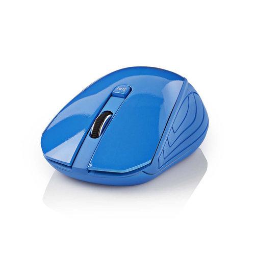 nedis Draadloze muis | 1000 dpi | 3-knops | Blauw
