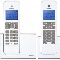 Profoon PDX-8420 - Duo DECT telefoon - Grijs/Wit