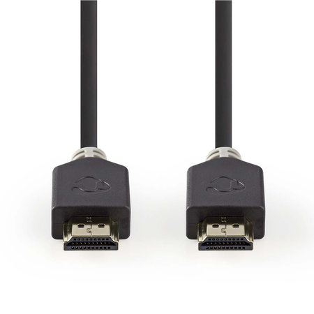 nedis High Speed HDMI™-kabel met Ethernet | HDMI™-connector - HDMI™-connector | 3,0 m | Antraciet