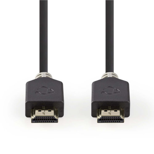 nedis High Speed HDMI™-kabel met Ethernet   HDMI™-connector - HDMI™-connector   3,0 m   Antraciet