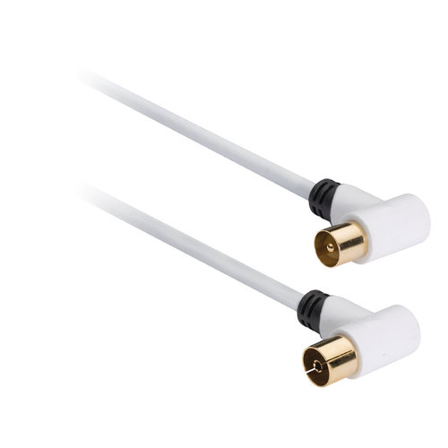 nedis 100 dB Coaxkabel Coax Male (IEC) - Coax Female (IEC) 10.0 m Wit